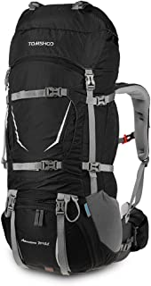 70+5L Internal Frame Backpack Water-Resistant Backpacking Trekking Bag with Rain Cover for Climbing Camping Hiking Travel Mountaineering