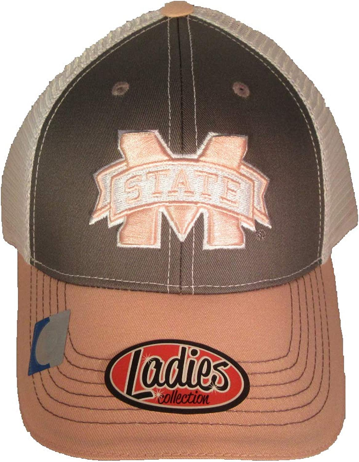 Collegiate Headwear Mississippi State Bulldogs with Mesh Back Ladies Baseball Cap. Pink