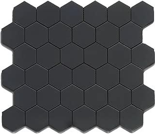 Black 12X12 Hexagon Mosaic- 11pcs/carton (11 sq ft)