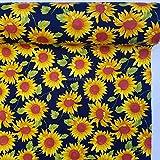 Prestige P0785 Sommer-Sonnenblumen-Stoff, Baumwolle,