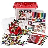Materiales para manualidades con caja de almacenamiento, tamaño 34 x 34 x 20 cm, 1 unidad