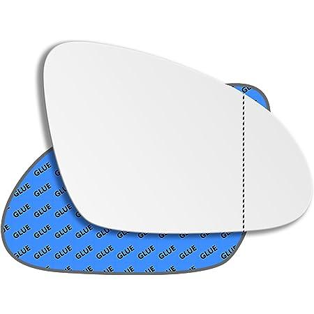 Left Passenger Side Stick-On Wing Mirror Glass Aftermarket SRG-865-8301