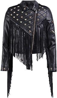 Winwinus Women's Outwear Motorcycle Biker Zip-Up Short PU Leather Jackets