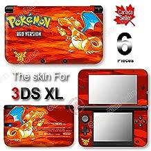 Pokemon 20th Anniversary Red Edition Pokémon Skin Vinyl Sticker Cover for Original Nintendo 3DS XL