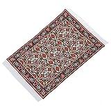 WOVELOT Miniatur 1:12 Puppenhaus gewebten Teppich Boden Teppichboden 24 x 15.3cm