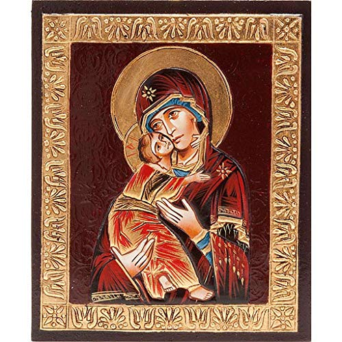 Holyart Ícono Virgen de Vladimir en Relieve
