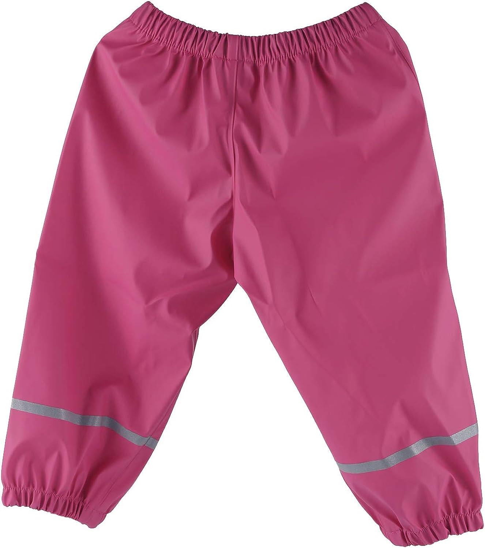 Kids Waterproof Rain Pants Dirty Proof Suspender Trousers Outdoor Rain Bib Dungarees Overalls for Boys Girls