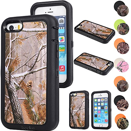 for iPhone 5C Case,Kecko Defender Tough Rubber Heavy Duty Hard Dual Layer Weather Impact Resistant Tree Forest Camo Hybrid Screen Protector Case with Camouflage Woods Design for iPhone 5C