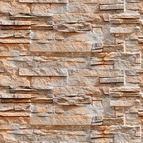 murando - Fototapete selbstklebend 10m 3D Tapete Wandtattoo dekorative Möbelfolie Dekorfolie Fotofolie Wandaufkleber Wandposter Wandsticker - Steinoptik Steinwand f-B-0217-an-a