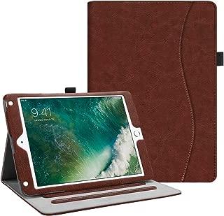 Fintie iPad 9.7 2018 2017 / iPad Air 2 / iPad Air Case - [Corner Protection] Multi-Angle Viewing Folio Cover w/Pocket, Auto Wake/Sleep for Apple iPad 6th / 5th Gen, iPad Air 1/2, Vintage Brown