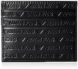 A|X Armani Exchange mens938548CC999All Over Logo Porta carte di credito, Nero (Nero) - 4331221783