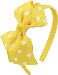 7Rainbows Fashion Polka Dot & Leopard & Zebra Bows Headbands For Toddlers Girls