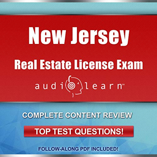 New Jersey Real Estate License Exam audiobook cover art