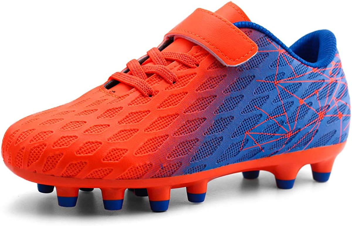 brooman Kids Now on sale Firm Ground Soccer Girls Cleats Outdo Boys Athletic Max 75% OFF