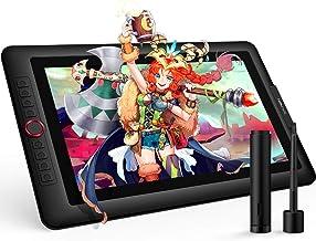 XP-PEN Artist 15.6 Pro Tableta Gráfica15.6 Pulgadas HD IPS P05R con Función de Inclinación 8 Teclas de Atajo y 1 Dial Roja Viene con el Último Software de Dibujo de OpenCanvas 7 o ArtRage 5