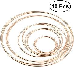 anti corrosione ecologici accessori per acchiappasogni 10 anelli in bamb/ù per decorazione artigianale rotondi fai da te e matrimoni 10 cm Come da immagine