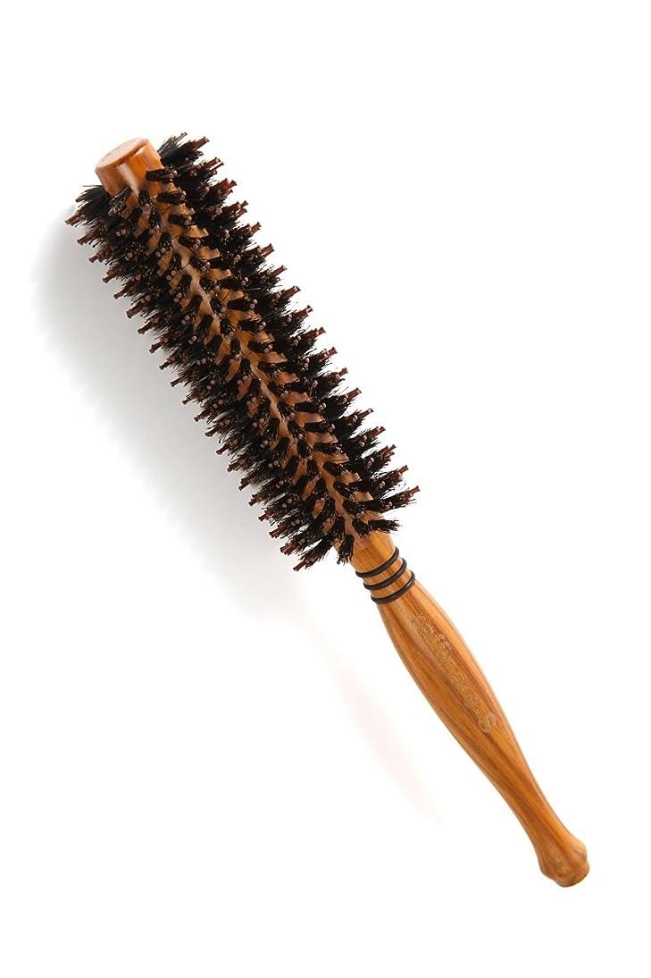 きらめく役に立たない指標raffinare(ラフィナーレ) ロールブラシ 豚毛 耐熱仕様 ブロー カール 巻き髪 ヘア ブラシ ロール (S)