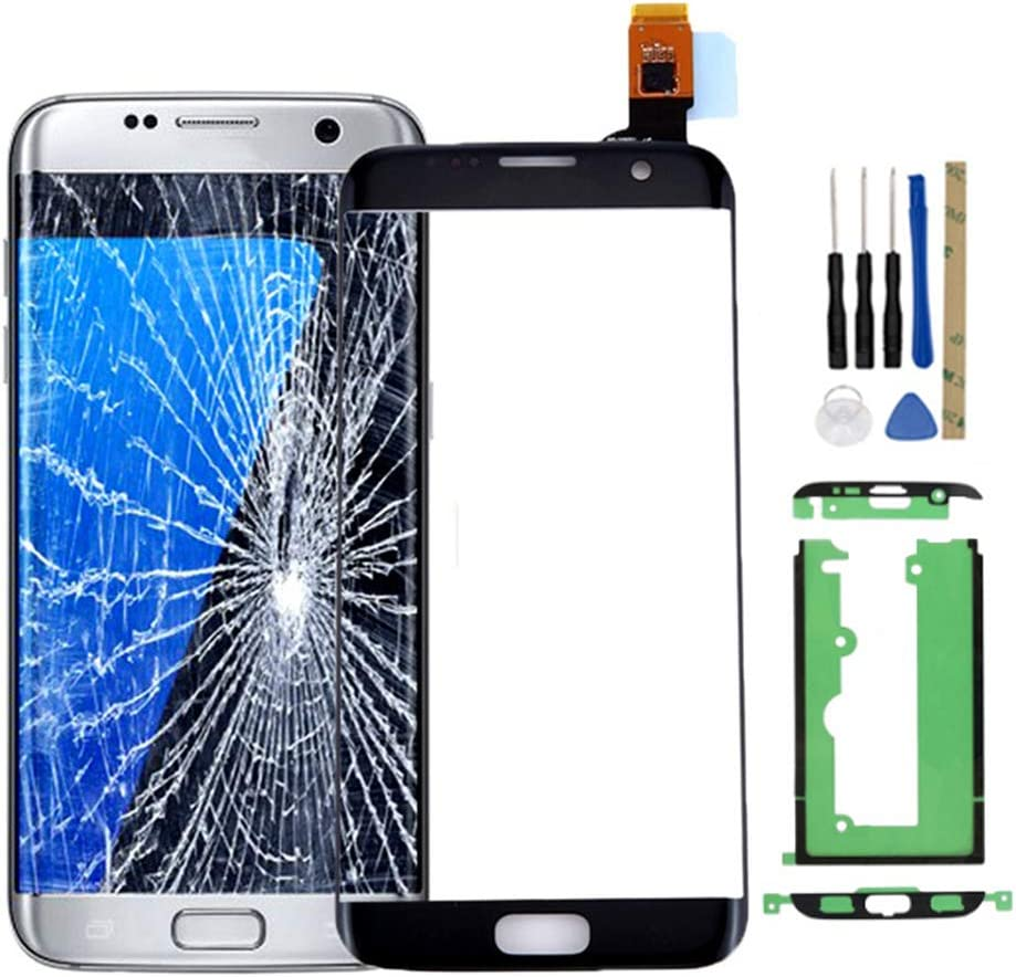 for Samsung for Galaxy S7 Edge Replacement Touch Screen Digitizer Outer Front Glass with Tools and Adhesive Tape for G935V G935P G935F G935T G935A (not Include LCD) - Black