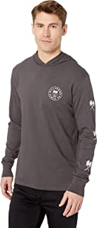 Tendencies Long Sleeve Hood T-Shirt Charcoal SM