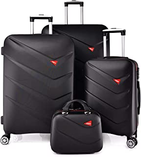 TRACK Luggage set HARD 4 pieces size 30/25/20/12 inch 9013/4P (Black)