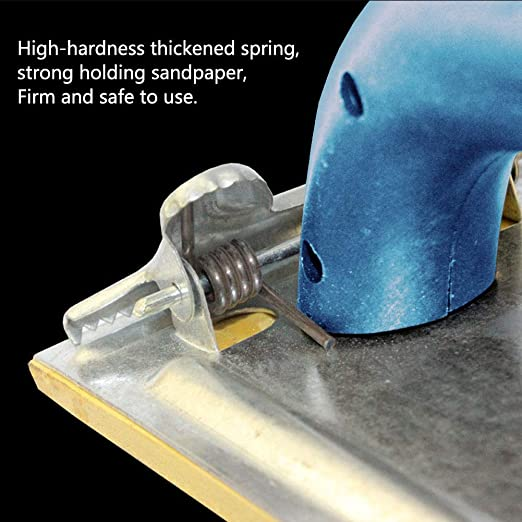 Yudesun Hand Grip Sandpaper Holder Sandpaper Holder Sander Wall Sanding Tools Sandpaper Plywood Wood Handwork Brushing Wall Shelf