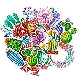 Navy Peony Bunte Kaktus Sticker Set   kleine wasserdichte Sticker für Laptop, Skateboards und Handyhüllen   süße Sticker für Scrapbooking, Tagebuch, Planer und Zeitung (31 Stück)