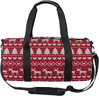 Bolsa de lona para niñas Tarjeta de patrones sin fisuras de Navidad Escandinavo Sw Yoga Gym Totes Bolso de viaje Bolsas de...