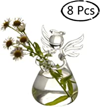 Sziqiqi Terrarium Vase Angel Shape Hanging Vase Flower Plant Hydroponic Containers Wedding Home Office Garden Decor (8Pcs/Set)