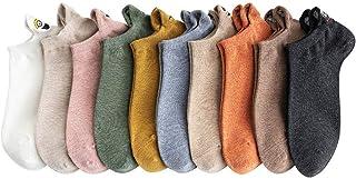 Calcetines bordados 10 pares de las mujeres de la historieta calcetines divertidos del tobillo lindo de la expresión de la moda