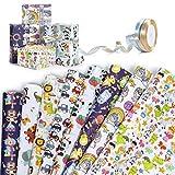 Papel de Regalo, Jolintek 8 Hojas Papel Para Envolver Regalos con 2 Rollo Cinta Raso, Diseño de Animales Lindos Papel Regalo Cumpleaños, Papel Envolver para Cumpleaños, Navidad, Baby Shower, 74*52CM
