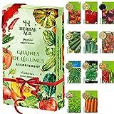 Cultivez votre propre potager –11 variétés de graines de légumes, 3500 graines prêtes à être cultivées – Kit de plantation de légumes pour Femmes, Enfants, Débutants, cadeaux de jardinage