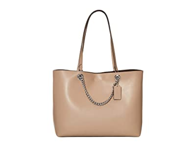 COACH Signature Chain Convertible Tote (LH/Taupe) Handbags