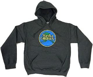 Alaska Grown Hoodie Sweatshirt Matte Dark Gray Adult Sizes