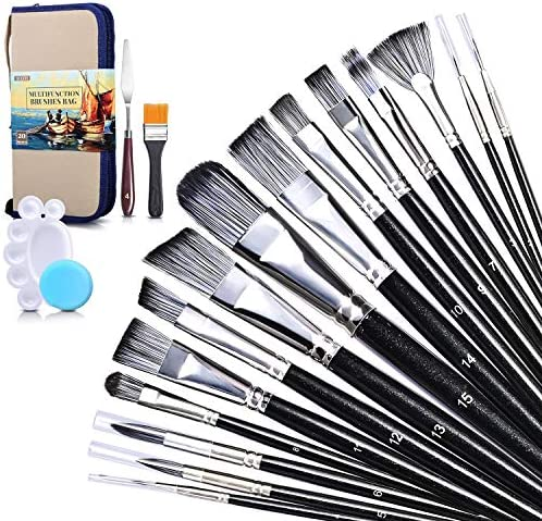 Paint Brush Set with Standable Carrying Case Acrylic Oil Paint Brush Sets for Canvas Painting product image