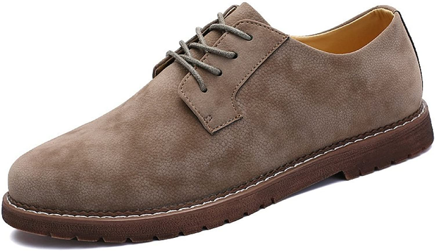 ZPFDY Men Business Casual Korean Fashion British Retro Four Seasons Youth Lace Leather shoes