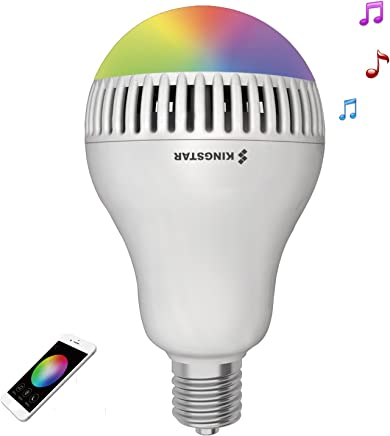 Kingstar Smart RGB Color Changing Music Ball Led Light E26/E27 Bulb Built-in Bluetooth Speaker Remote Controled Via App