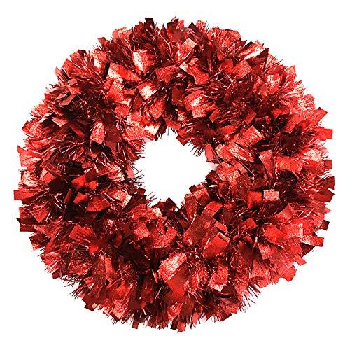 Brite Star Wreath Tinsel, Red