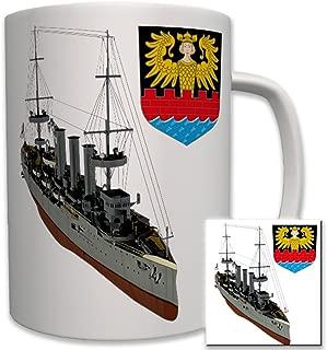 SMS Emden German imperial navy war ship coat of arms badge emblem - Coffee Cup Mug