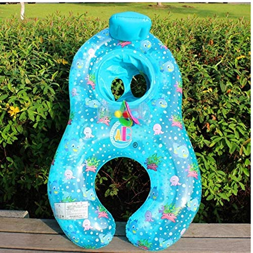 Portable Baby Pool Float Neck Ring Met Zonnescherm Portable Mother Children Swim Circle Opblaasbare Safety Swimming Ring 97x55cm