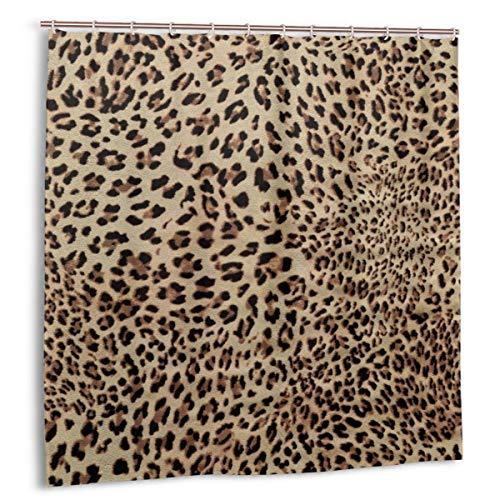 Duschvorhang,sexy Leopardenmuster Stoff Badezimmer Dekor Set mit Haken 180cmx180cm