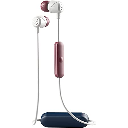 Skullcandy Jib Bluetooth Wireless in-Ear Earbuds with Microphone for Hands-Free Calls, 6-Hour Rechargeable Battery, Included Ear Gels for Noise Isolation, Vice/Gray/Crimson