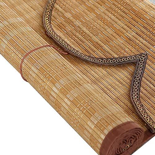 LXLA - Persianas Exteriores enrollables de Madera - Persianas enrollables de bambú al Aire Libre con Accesorios, Persianas for terrazas Gazebo Pergola Patio Porche Cochera (Size : W60cm X H100cm)