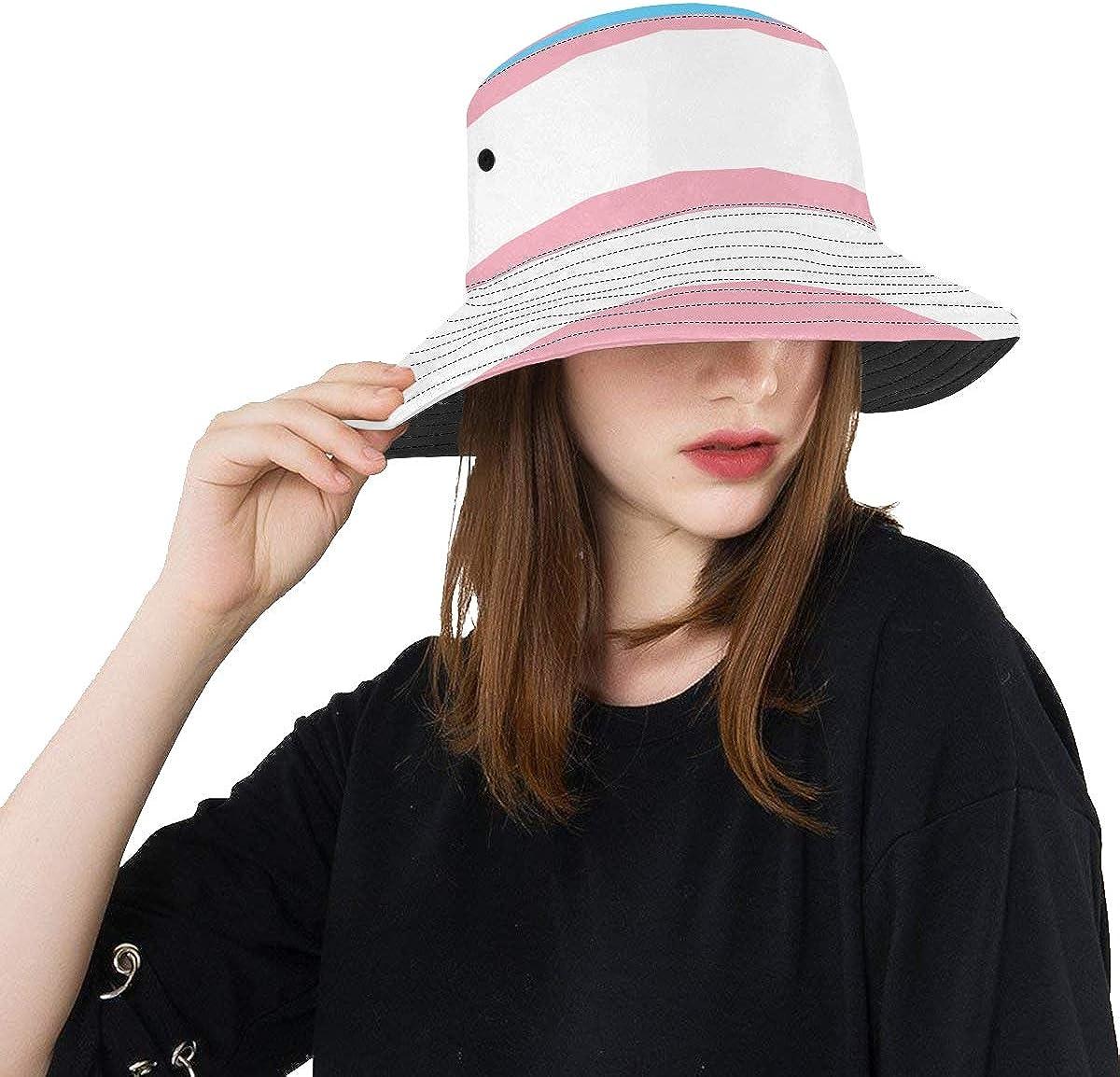 Womens Sun Hat Transgender Pride Flag Summer Fishi Phoenix Mall Unisex Format Max 70% OFF
