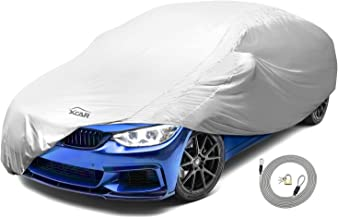 XCAR Solar Shield Breathable UV Protection Car Cover Fits Cars Up to 200 Inch in Length-with Gust Guard Strap