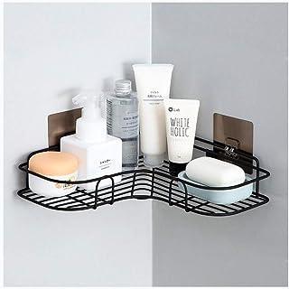 Étagère d'angle Douche Adhésif coin douche Caddy étagère murale Salle de bains Rangement Cuisine Organisateur rack Aucun f...