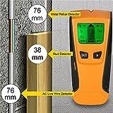 Honeytecs Multi-functional LCD Digital Wall Detector Metal Wood Studs Finder AC Cable Live