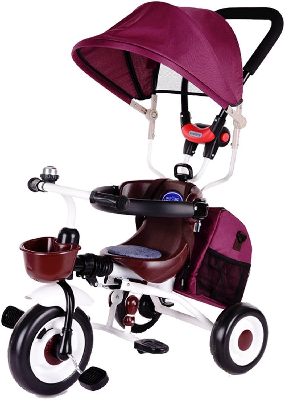 opciones a bajo precio Triciclos Triciclos Triciclos Niños Bicicleta 1-7 años Cochero de Cochero de bebé Niño Bicicleta Trike Niños 3 Ruedas ( Color   Color Arena de Frijol )  mejor calidad mejor precio