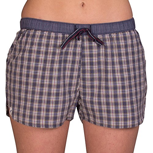 Luca David Olden Glory Damen Pyjama-Shorts mit Karo-Muster - Größe 42 (2400-17207-42)