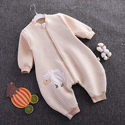 Unisex-inbakerdekens voor baby's, babyslaapzak met gespleten pijpen, dunne katoenen kruippak-lamb_70cm, dikke warme slaapzak voor pasgeboren baby's
