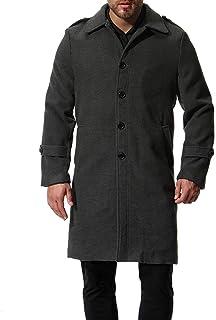 Saoye Fashion Cappotto da Uomo Cappotto Invernale Slim Fit Cappotto Invernale Tinta Giovane Abiti da Festa Unita con Collo...